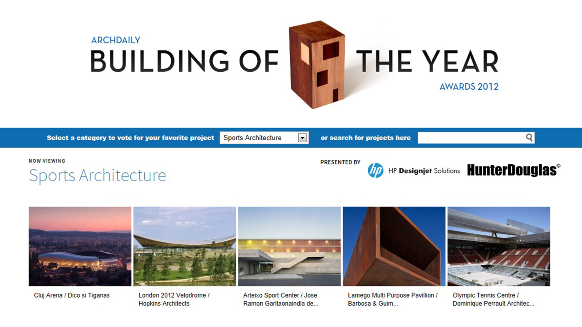 ArchDaily Nomination, Building of the Year Awards, 2013