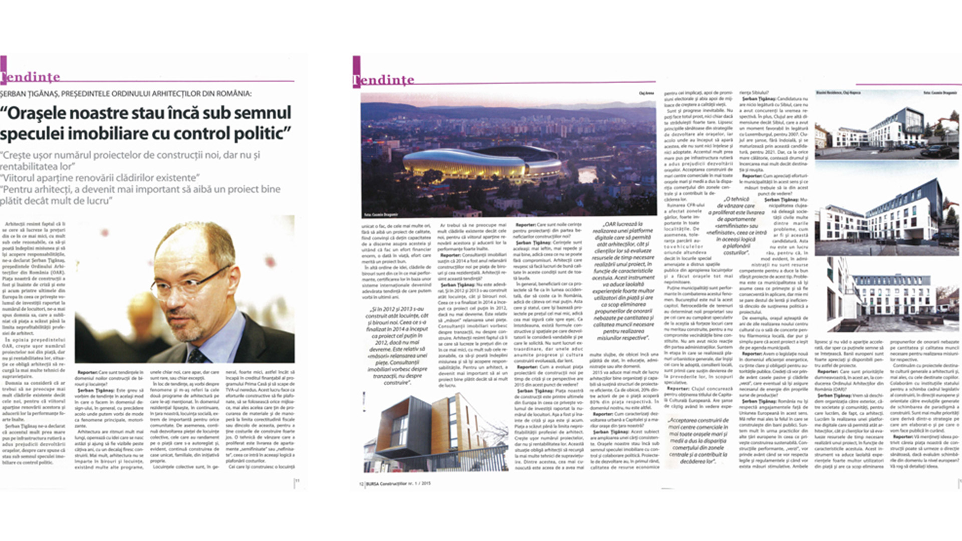 Bursa Construcțiilor no.1, Article by Șerban Țigănaș, 2015