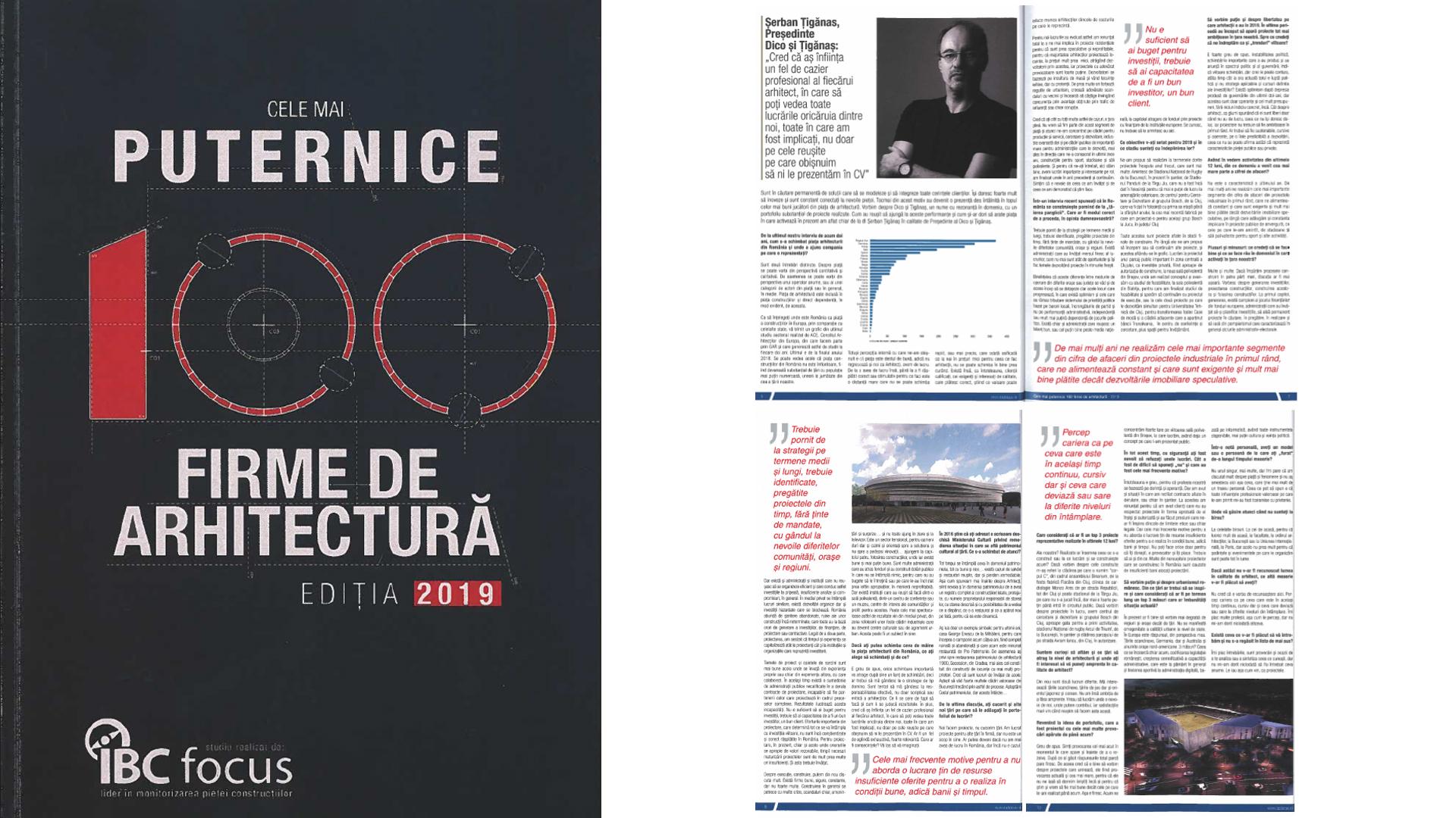 Cele mai puternice firme de arhitectura, IBC focus, 2019