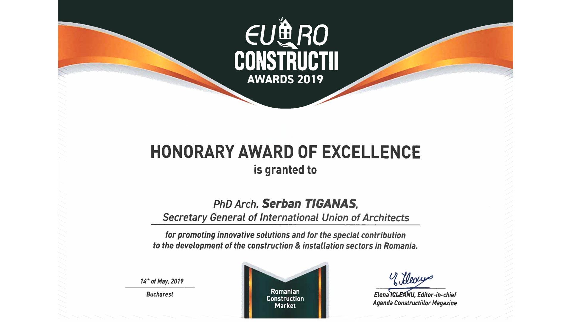 Euro Construcţii Awards, 2019