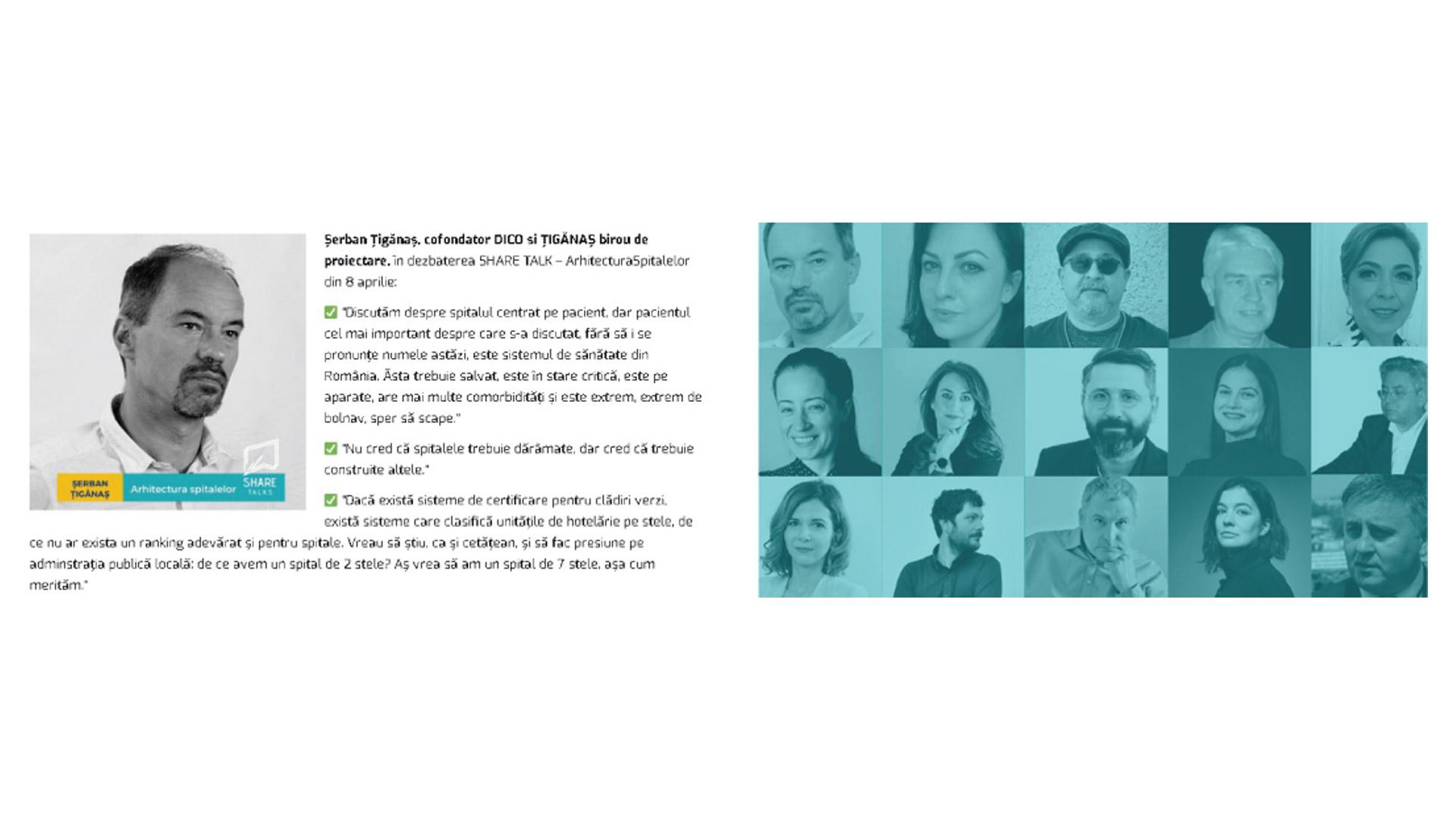 Share Arhitecture, Share Talks, Arhitectura spitalelor 2021